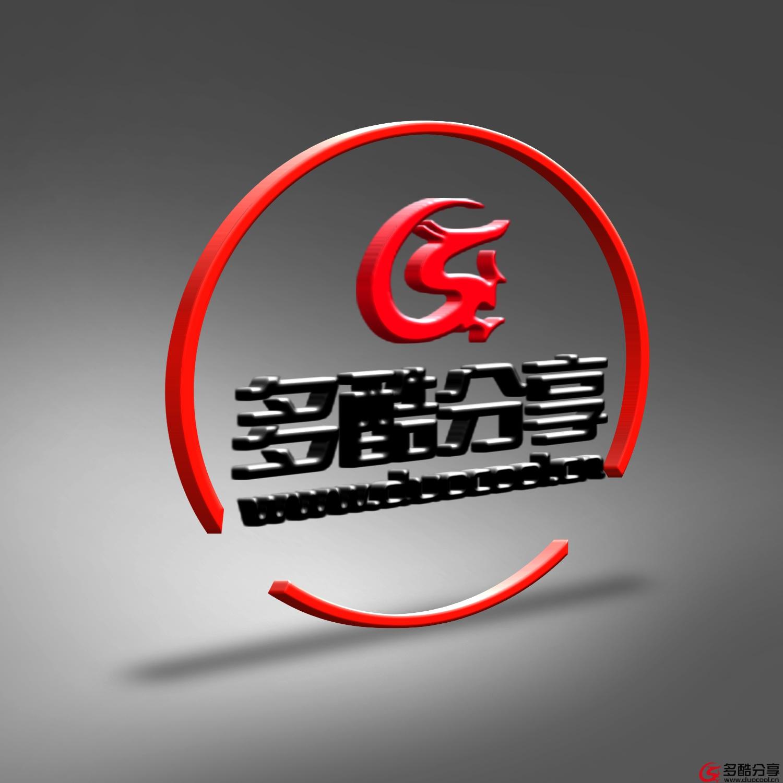 【智能素材】金属立体logo样机--多酷分享